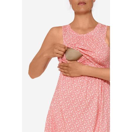 Milker Nursing rot geblümtes Stillkleid Umstandskleid aus Bambus von Milker Nursing