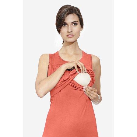 Milker Nursing Umstandsshirt Stillshirt koralle aus nachhaltiger Bambusfaser von Milker Nursing