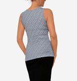 Milker Nursing Umstandsshirt Stillshirt blau gemustert aus nachhaltiger Bambusfaser von Milker Nursing