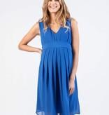 Attesa hochwertiges azurblaues Umstandskleid mit Stillfunktion von Attesa