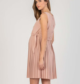 Attesa hochwertiges, ärmelloses, rosafarbenes Umstandskleid mit Stillfunktion von Attesa