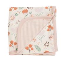 Babydecke Blumen rosa