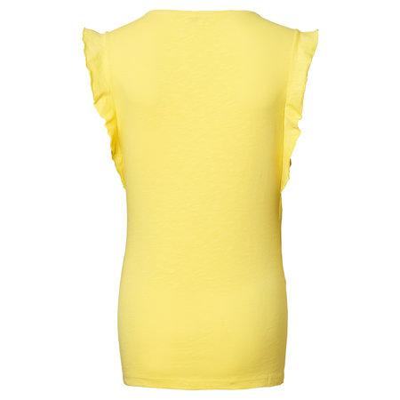 noppies gelbes Umstands- und Stillshirt Rüschenärmel von Noppies