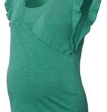 noppies grünes Umstands- und Stillshirt Rüschenärmel von Noppies