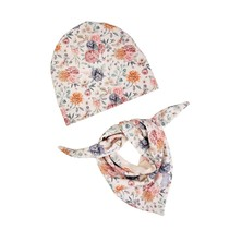 Mütze Halstuch Sommerblumen
