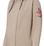 Esprit praktische, beige Sweatjacke (Umstandsjacke, Tragejacke) aus Biobaumwolle von Esprit