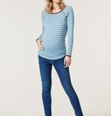 Esprit Still- und Umstandsshirt hellblau gestreift von Esprit