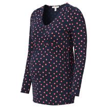 Umstandsshirt Stillshirt navy rosa Flecken