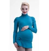 mamaija  blauer Umstandspullover mit Rollkragen von mamaija