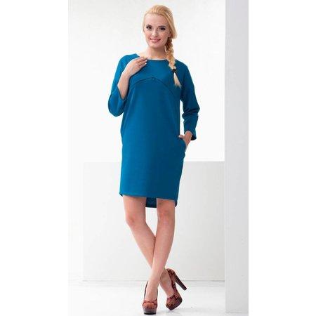 mamaija  blaues Umstandskleid - Stillkleid von mamaija