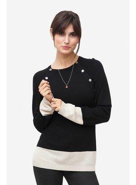 Milker Nursing schwarzer Stillpulli Wolle