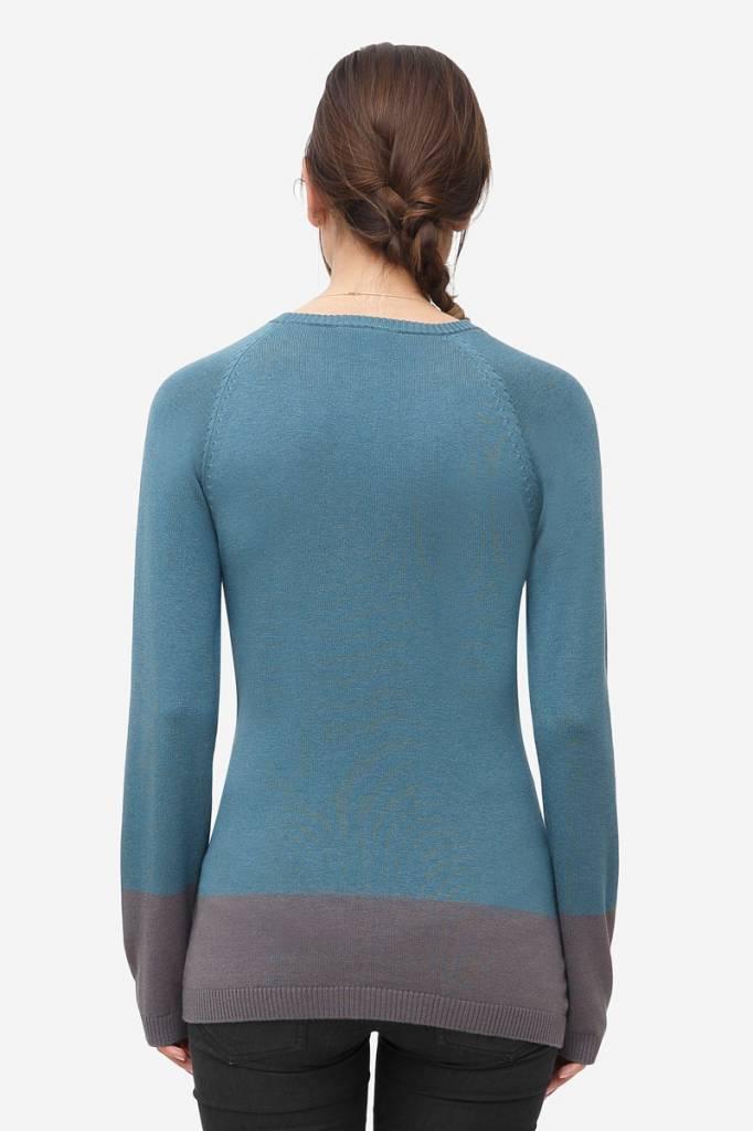 blauer Stillpulli Wolle von Milker Nursing
