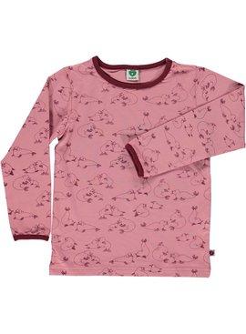Småfolk - bunte skandinavische Mode rosa Langarmshirt Seelöwe