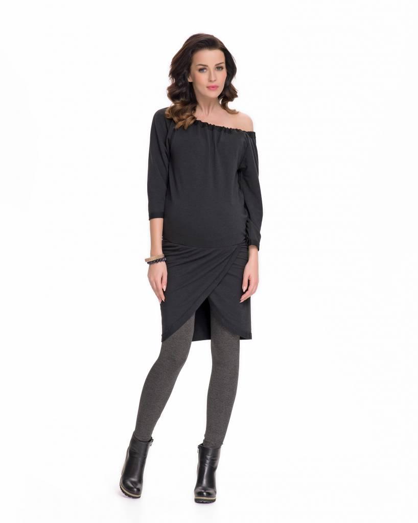 9fashion schwarzes Umstandssweatshirt Umstandstunika Sweattunika von 9fashion