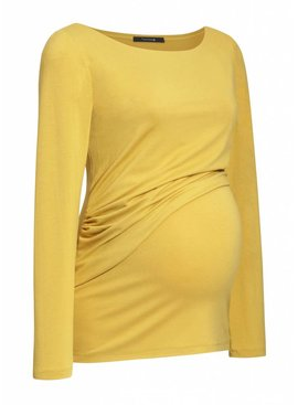 Umstandsshirt - Stillshirt senfgelb