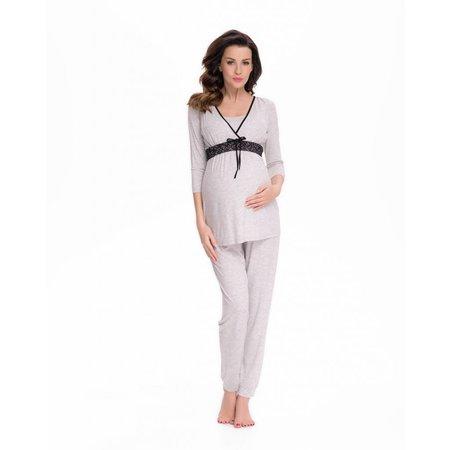 9fashion Pyjama mit Stillfunktion mit Spitze von 9fashion
