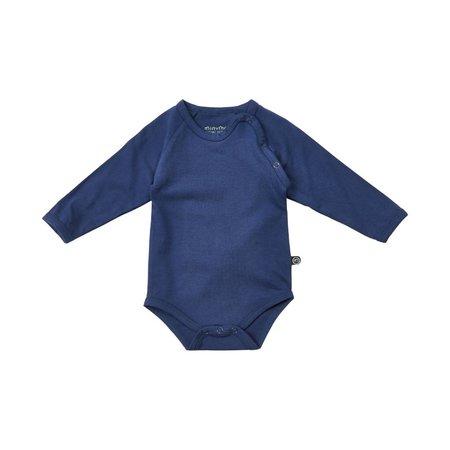 Minymo - organic cotton blauer Body - BIO von minymo