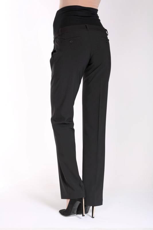 Umstandshose Bundfaltenhose in schwarz von 9fashion