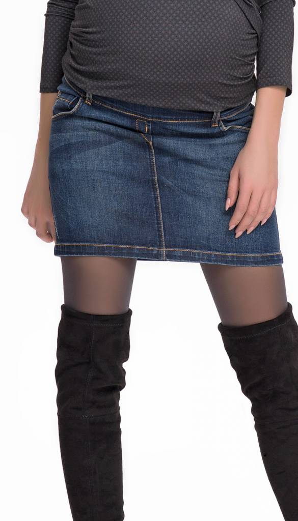 more photos c8e2e fc43e kurzer Umstandsrock aus Jeans