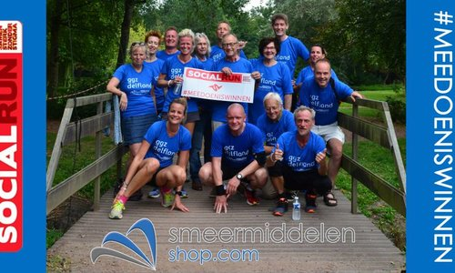 Smeermiddelen-shop sponsort team van GGZ Delfland tijdens de Social Run