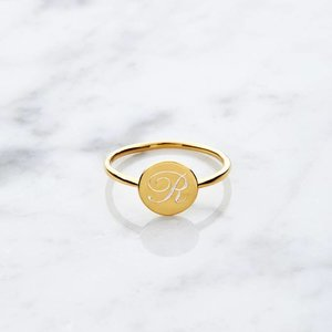 Initial ring | Gold plated