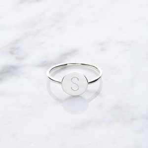 Initial ring | 925 silver