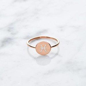 Initialring | rosé vergoldet