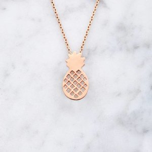 Pineapple | rose gold-plated