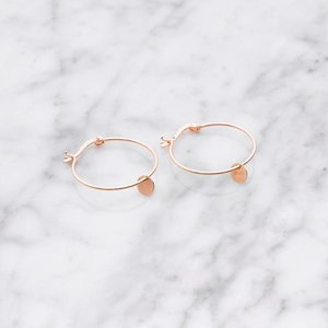 La Concha hoop earrings | rose gold plated