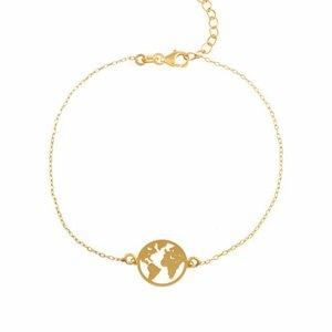 World Armband | vergoldet