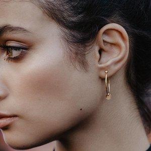 La Concha hoop earrings | gold plated