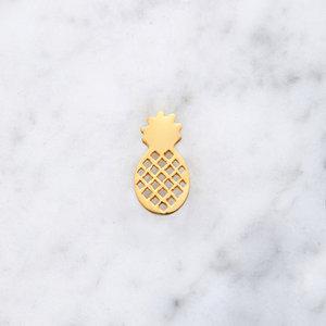 Ananas Anhänger | vergoldet