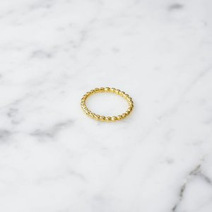 Ball ring | gold plated 925 silver