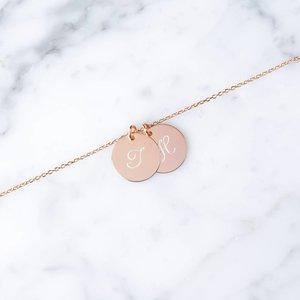 doppeltes Initialarmband | rosévergoldet