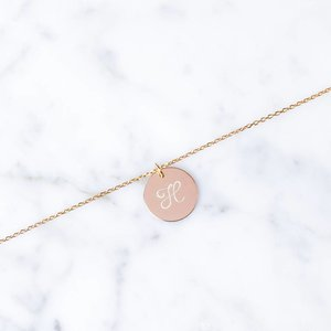 einfaches Initialarmband | rosé vergoldet