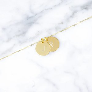 double initial bracelet | gold plated