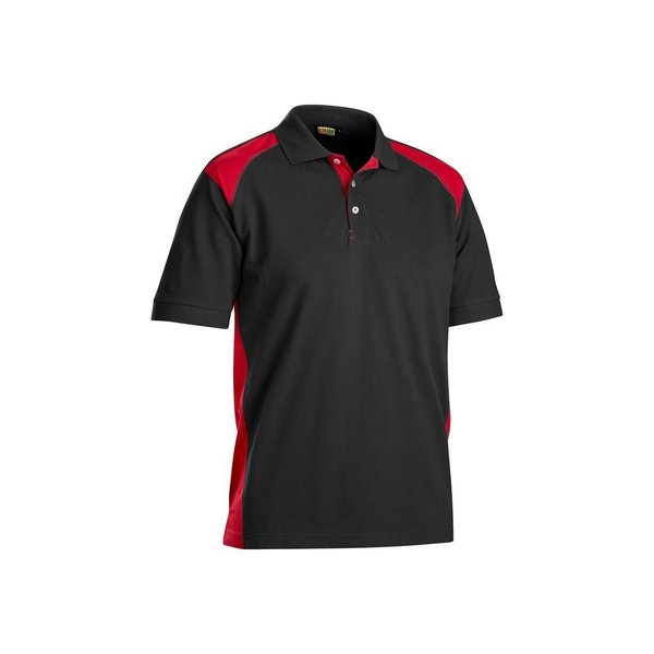 Bläkläder polo shirt 3324 zwart/rood mt L
