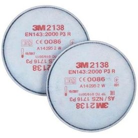 3M 2138 stoffilter P3 R set 2 filters