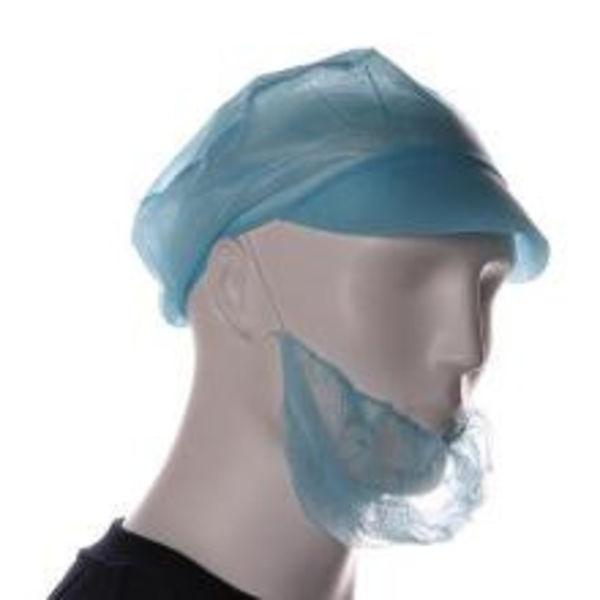 Baardmasker pp blauw  100st