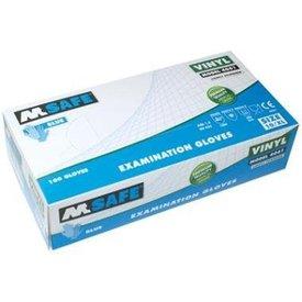 m-safe vinyl oz hs licht gepoederd 100st (aql1,5) s mt 7 t/m 10 kleur blauw