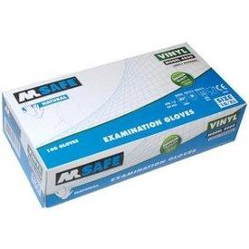 m-safe vinyl oz hs licht gepoederd 100st (aql1,5) s mt 7 t/m 10 kleur transparant
