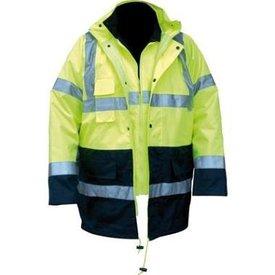 M-Wear 0980 4-in-1 parka fluor geel of oranje