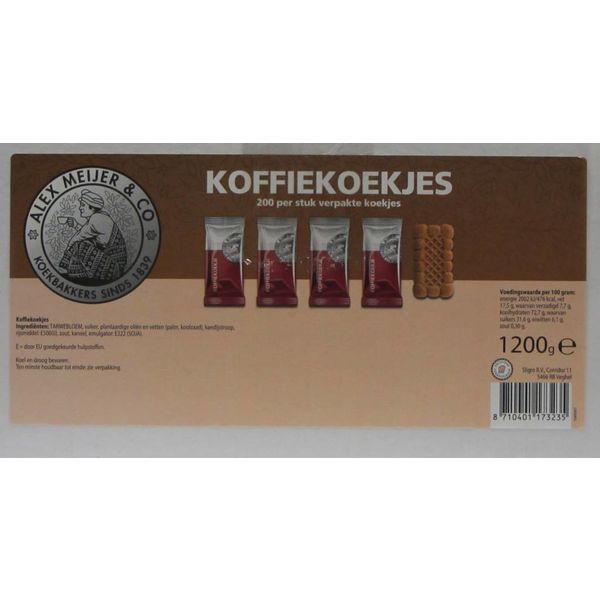 Alex Meijer koffiekoekjes 1,2 kg apart verpakt