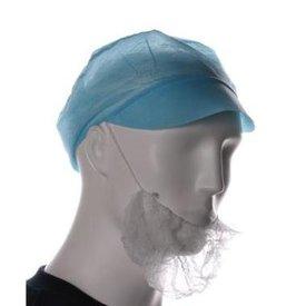 Baardmasker pp wit 100st