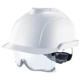 MSA V-Gard 930 ongeventileerde veiligheidshelm met ingebouwde overzetbril