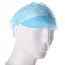 Pet met klep blauw, 100st