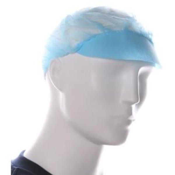 Baret model haarnet met klepblauw 100 st