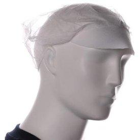 Baret model haarnet met klep wit 100 st