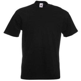 t-shirt katoen 205gr zwart  m fruit of the loom