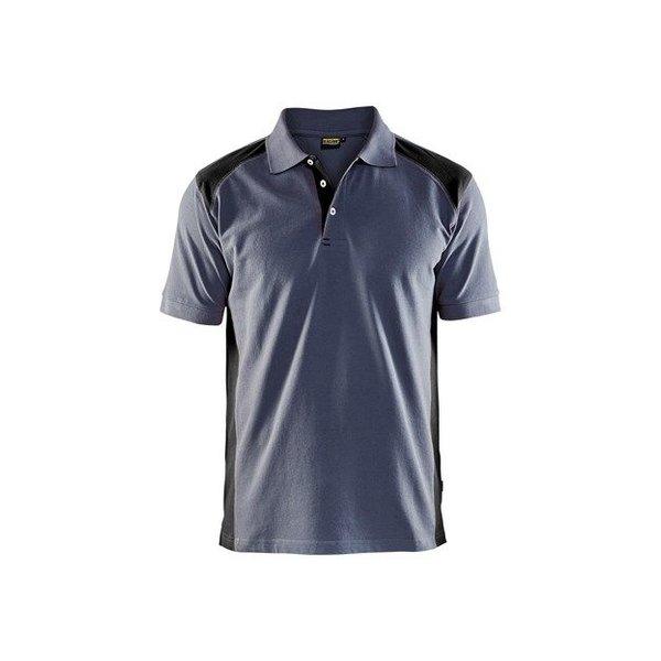 Bläkläder polo 3324 grijs/zwart